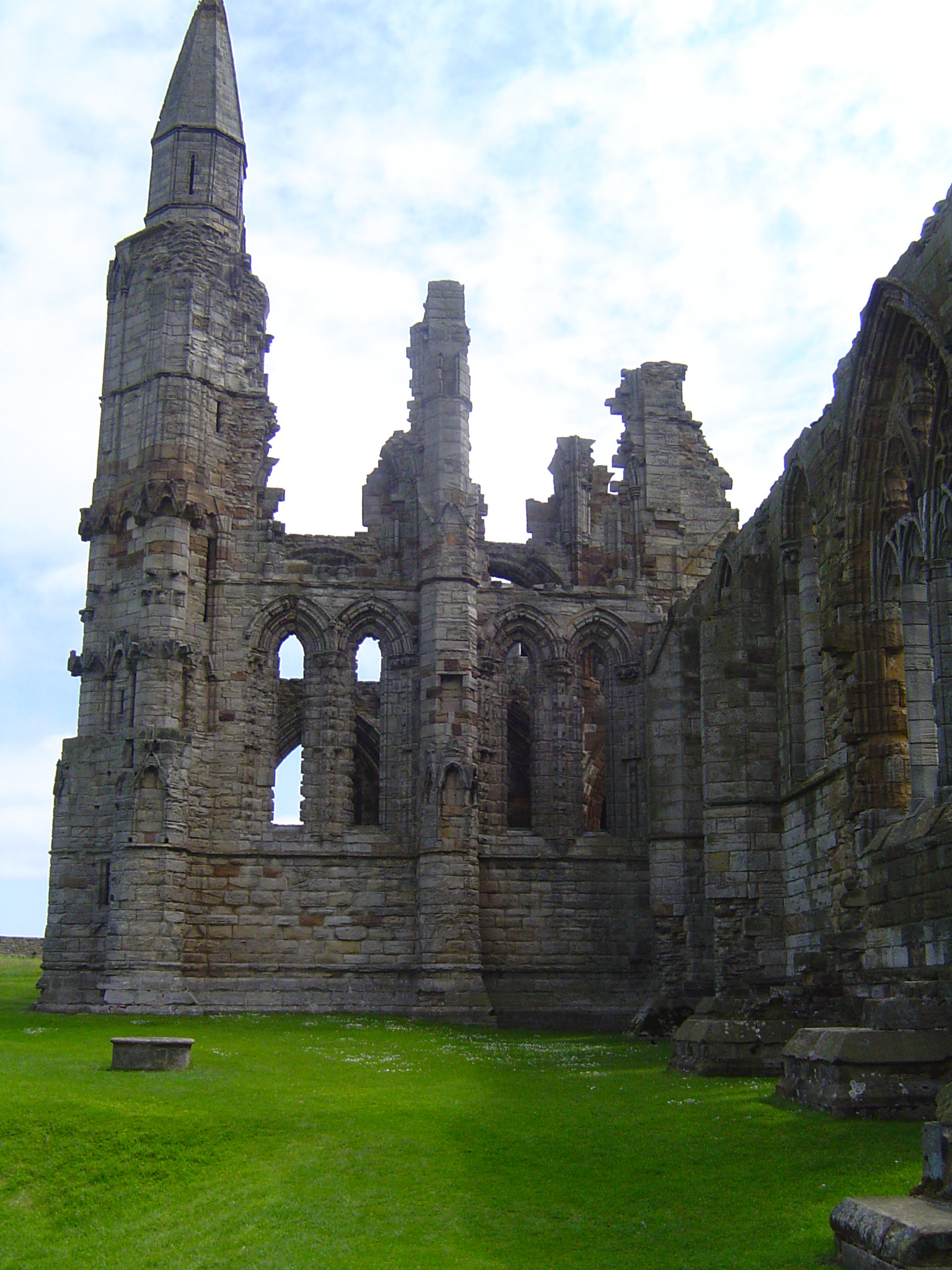 Ruins of Whitby Abbey in the day.