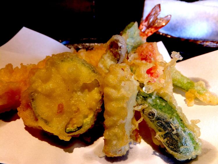 Assorted tempura.