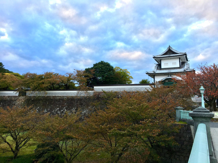 Walls of the Kanazawa castle entrance.